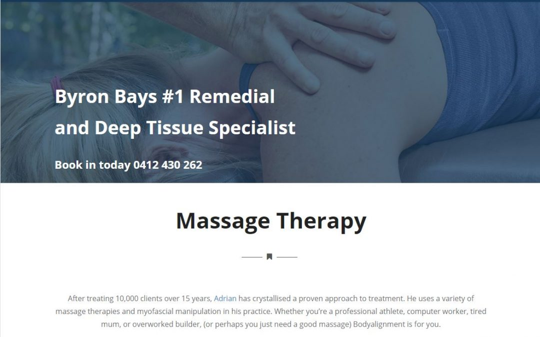 Massage Therapist Website | BodyAlignment