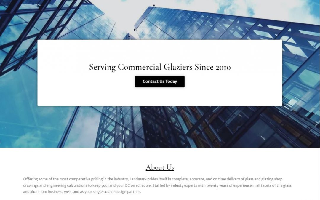 Custom Glazing Website | Landmark Glazing Services