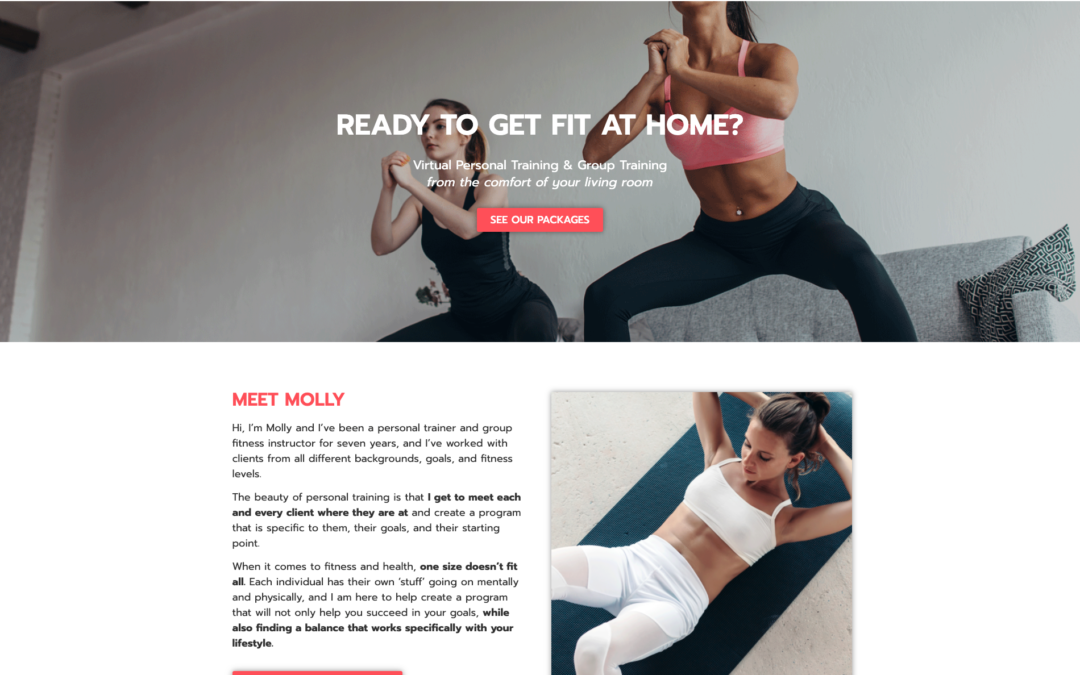 Personal Training Website | Molly Gallaher