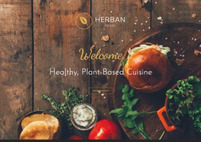 Herban Foods | Responsive Restaurant Website Mockup