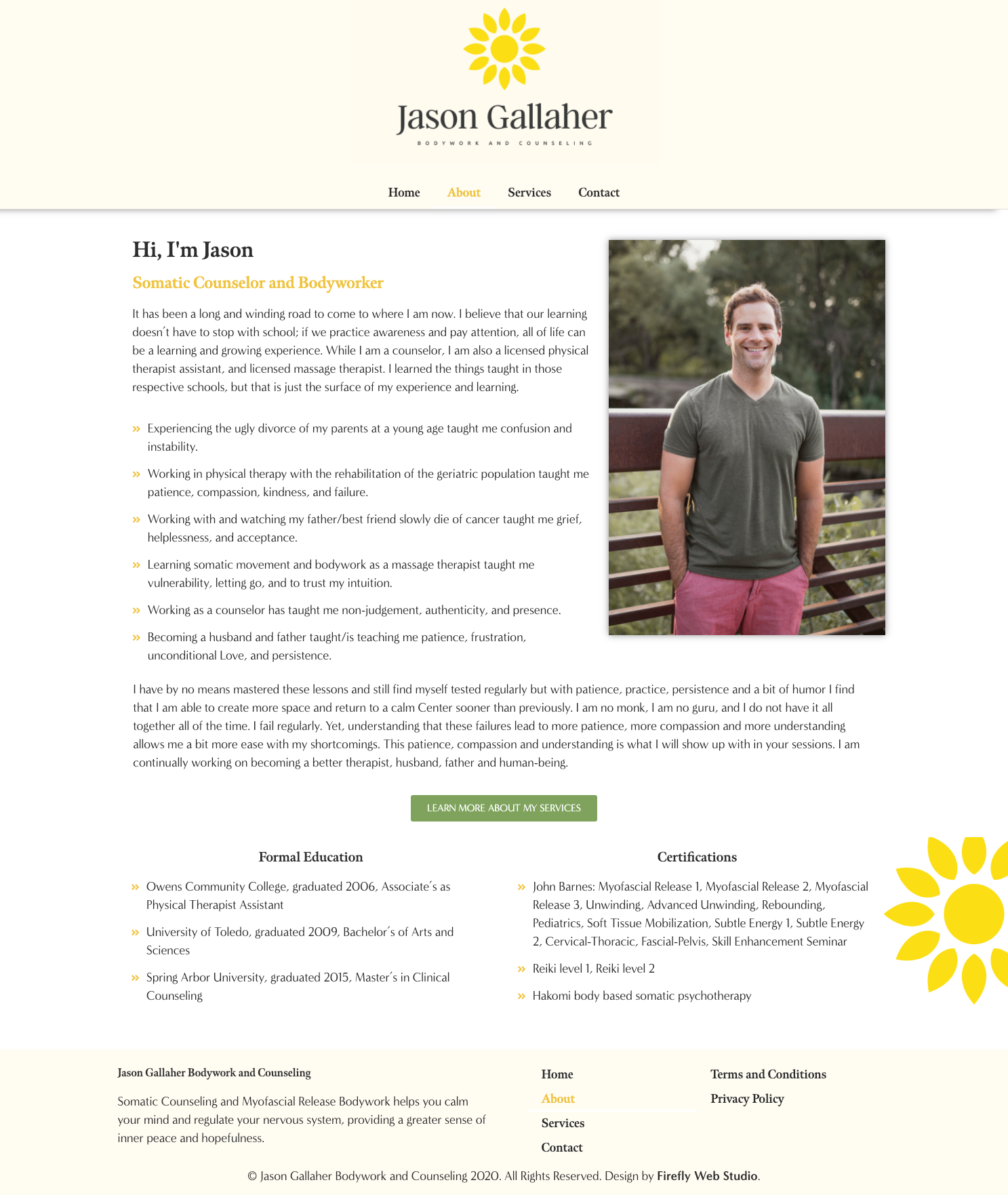 about jason gallaher - bodyworker and counselor