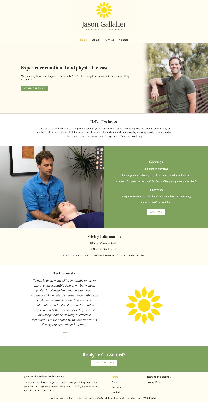 custom bodywork website homepage - jason gallaher