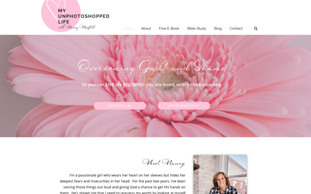My UnPhotoshopped Life | Custom blog design