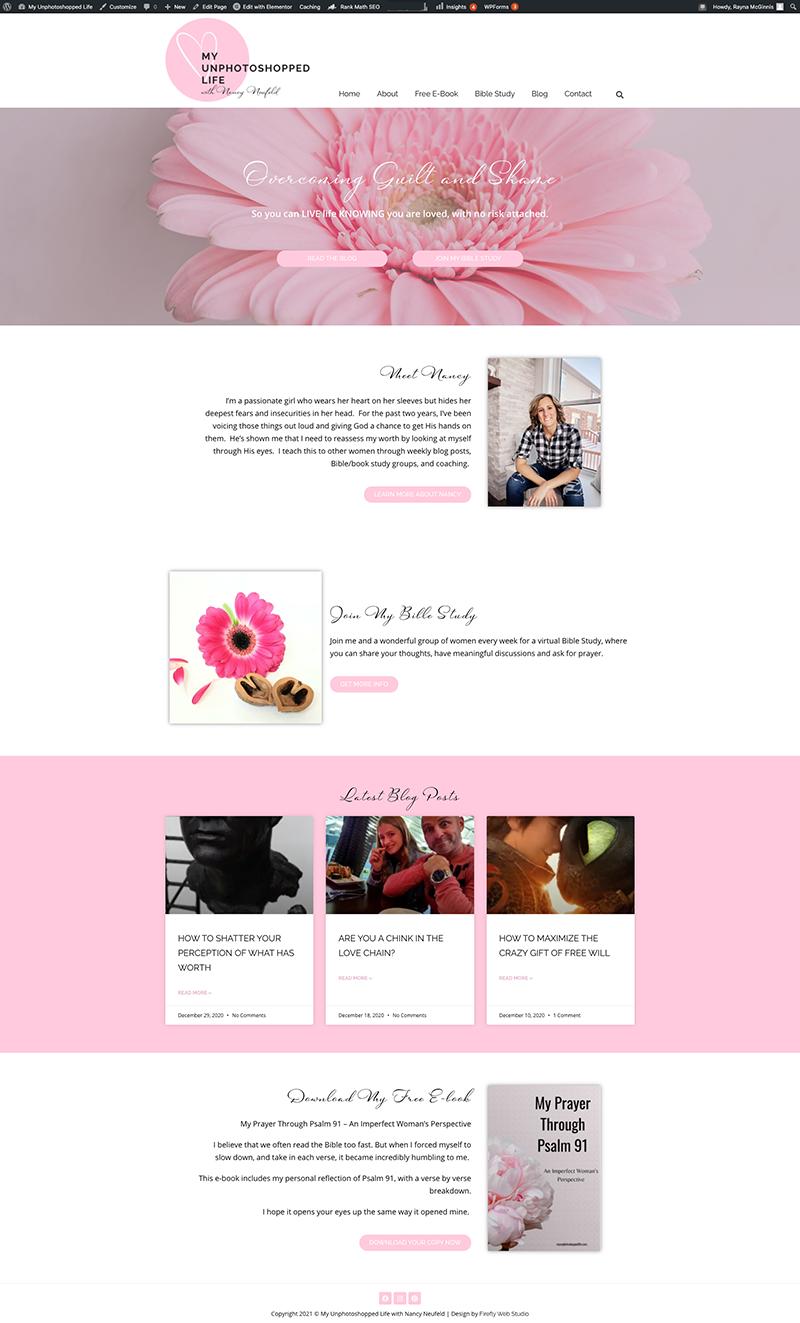 custom blog homepage